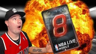 CRAZIEST PACK EVER?!? THE 8 PACK   NBA LIVE MOBILE PACK OPENING