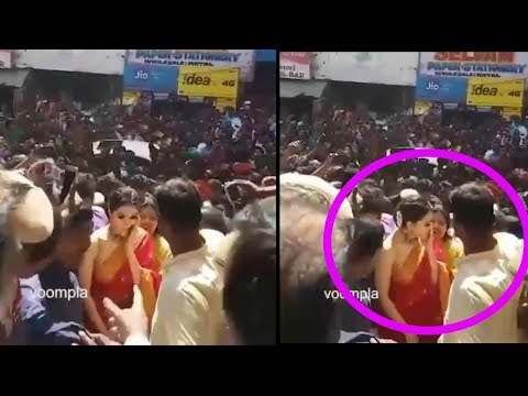 Telgu Actress Hansika Motwani got slapped by a fan in the crowd | Spotted for promotions
