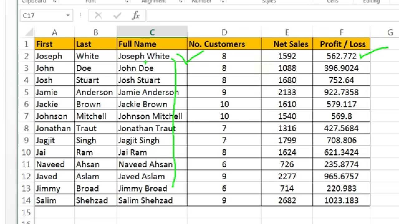 Microsoft Excel  Advanced Formula Concatenate VLOOKUP