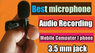 Mini microphone best audio quality recording android mobile phone computer iphone 3.5mm jack