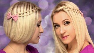 Фальшивое каре + Коса лесенка ❤ Причёска на средние, короткие, длинные волосы самой себе