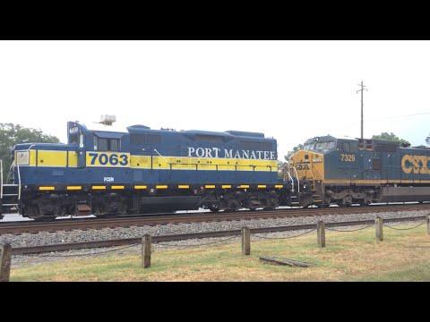 Folkston Railfanning 6/24/15 Port Manatee Engine, Amtrak Dash 8 + More!