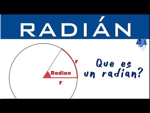 Qué es un Radián