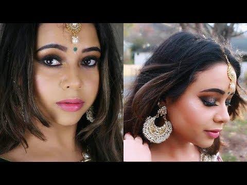 INDIAN/SOUTH ASIAN WEDDING GUEST MAKEUP AKA TUTORIAL | SMOKEY EYES