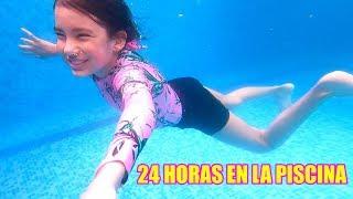 ACAMPANDO 24 HORAS EN LA PISCINA | TV Ana Emilia