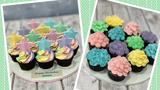 Pastel Colored CupCakes | Star CupCakes