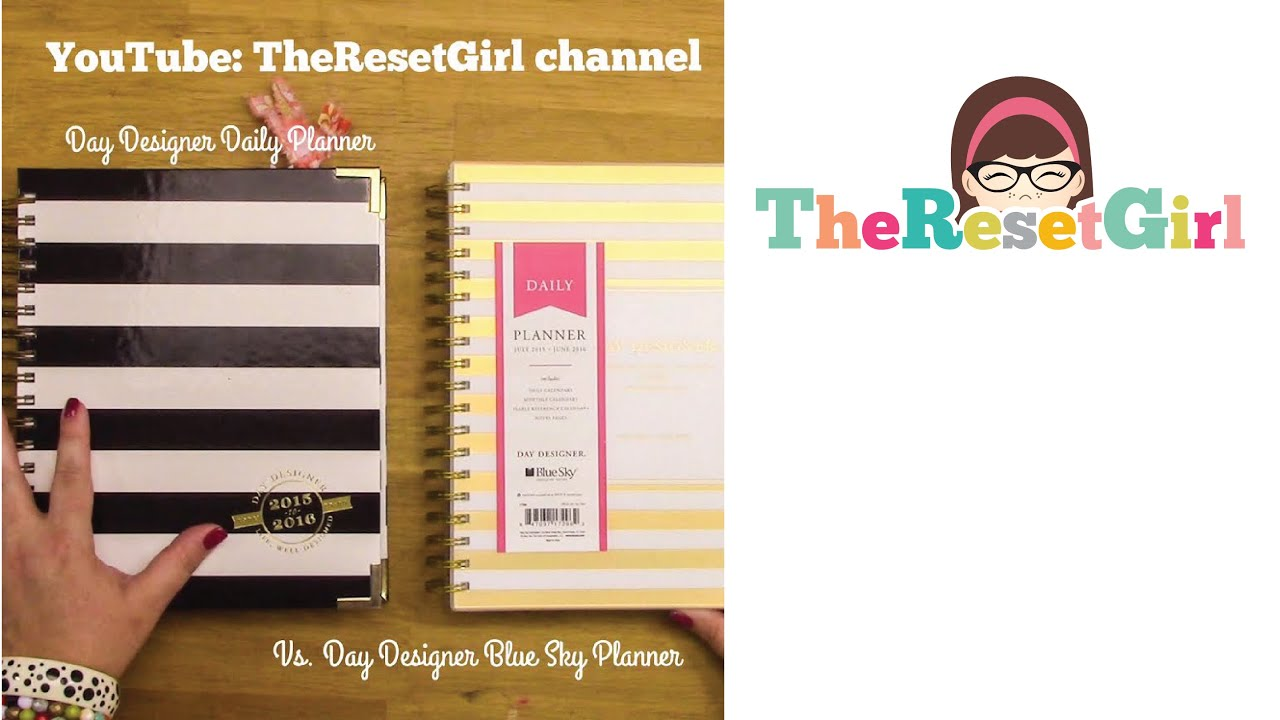 The day designer daily planner and day designer blue sky for Designer planners