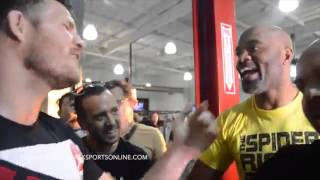 Michael Bisping Calls Anderson Silva Impotent & a Cheater at Gym