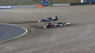 FIA Formula 3 European Championship 2017. Race 1 Circuit Park Zandvoort. Start Crash Rolls