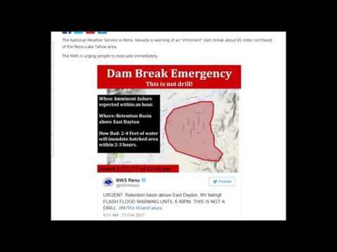 BREAKING   EMERGENCY EVACUATION   DAYTON NEVADA DAM FAILURE