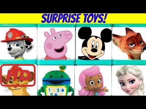 Huge Disney Nick Jr  Surprise Blind Boxes Toy Show - Paw Patrol, Peppa, Bubble Guppies, Zooto #Boss