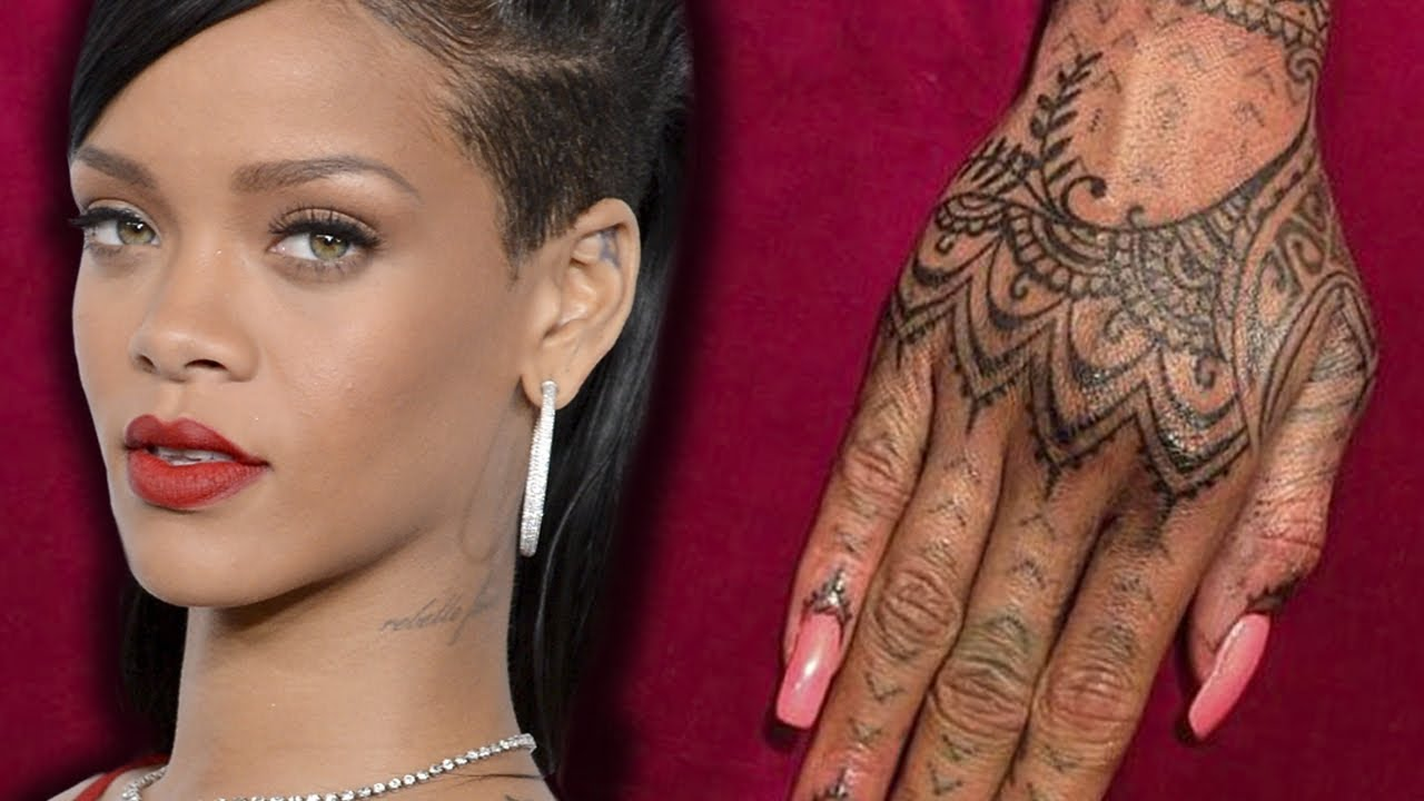 rihanna unhappy with new maori ink covers it up with - 1280×720