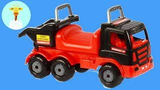 Toy Truck by Mammoet for kids | Toy unboxing dump truck