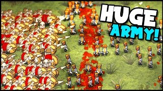 Peasant Army vs 300 Spartans! New Battle Simulator Game (Hyper Knights: Battles Gameplay)