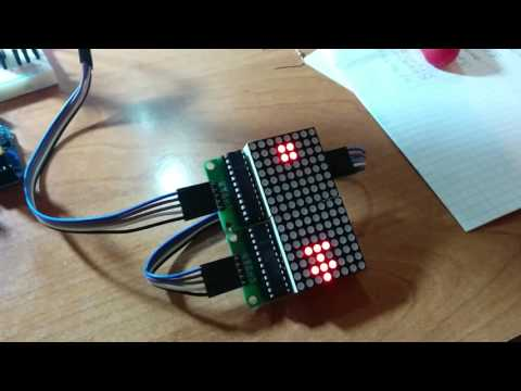 Часы на arduino и матрице 8x8 max