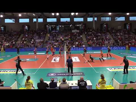 Allianz MTV Stuttgart vs Ladies in Black Aachen Semifinal playoff 1 31032018