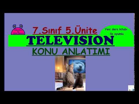 7. Sınıf İngilizce 5. Ünite Television Konu Anlatımı (Yeni MEB kitabı uyumlu)