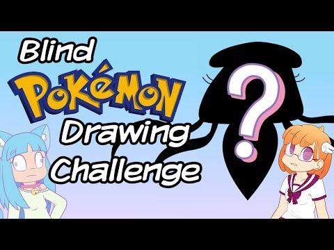 Drawing Pokemon Blind Challenge - Feat. Saki McGee (Part 1)