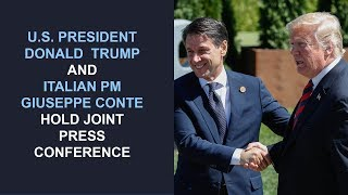 President Trump hosts a joint press conference with Italian Prime Minister Giuseppe Conte