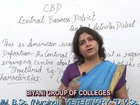 Central Business District lecture, BA, MA by Shweta Modi, Biyani group of colleges