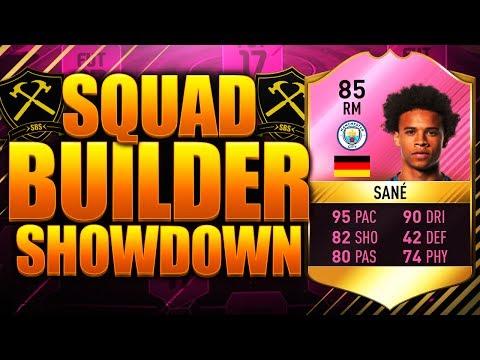 EPIC SQUAD BUILDER SHOWDOWN FUTTIES SANE 85!! FIFA 17 ULTIMATE TEAM