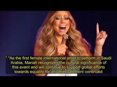 Mariah Carey slammed by women's rights activists for Saudi Arabia performance Mp3