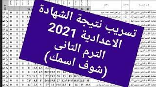 تسريبات نتيجة الشهادة الاعدادية 2021 جميع المحافظات بالاسم