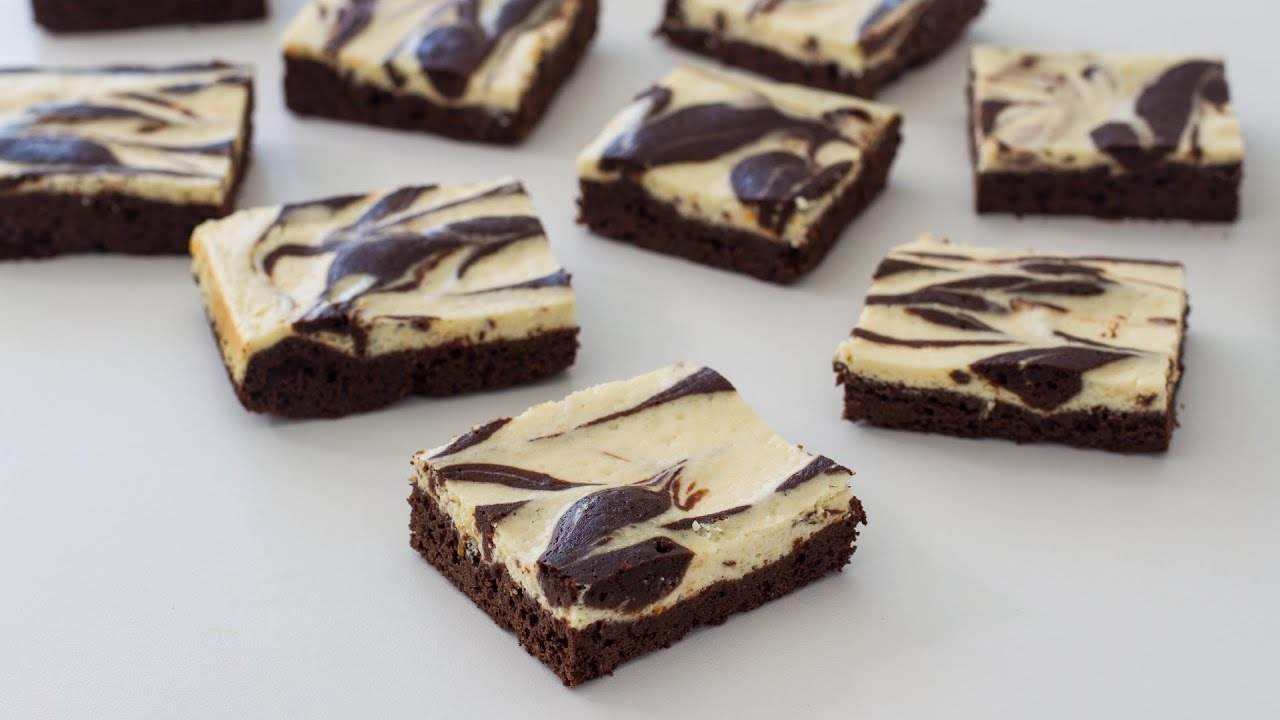 Cream Cheese Marbled Brownies Recipe - YouTube
