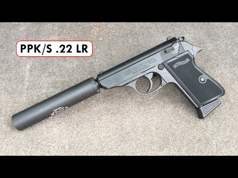 Shooting a Walther PPK/S .22 LR pistol with a Gemtech GM-22 Suppressor!