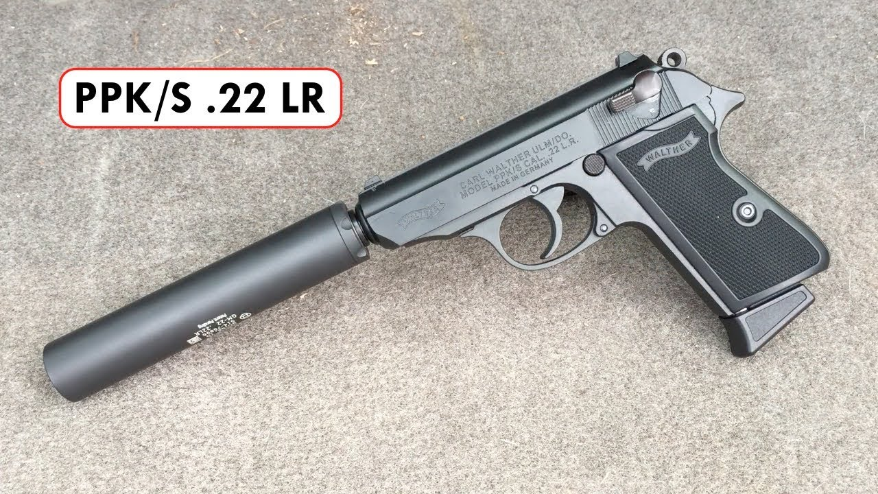 Shooting a Walther PPK/S  22 LR pistol with a Gemtech GM-22 Suppressor!