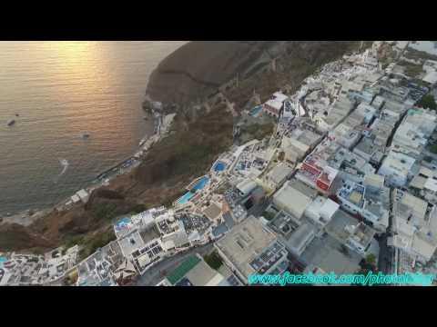 Drone trip in Santorini - Fira