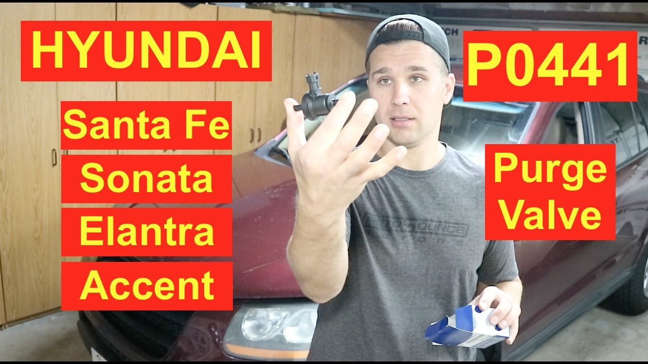 how to hyundai santa fe sonata elantra access purge valve p0441 [ 1280 x 720 Pixel ]
