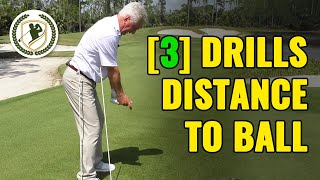 [3] GOLF DRILLS - HOW FAR SHOULD YOU STAND TO GOLF BALL?