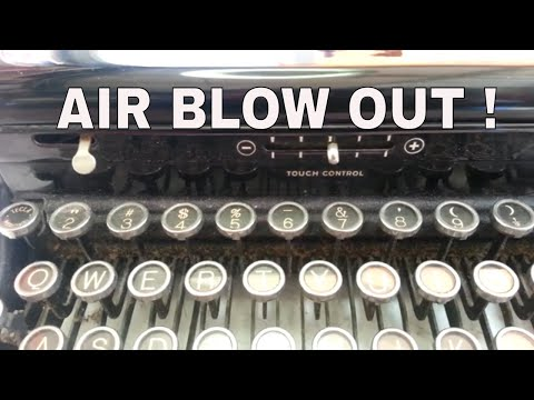 Blow Out Vintage Typewriter Compressed Air Cleaning