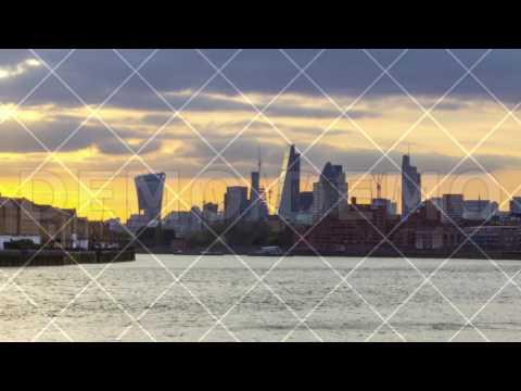 Business Buildings, City, Bank, Skyscrapers, Skyline, London, Uk, Time Lapse, 4k
