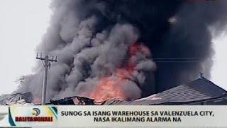 BT: Sunog sa isang warehouse sa Valenzuela City, nasa ikalimang alarma na