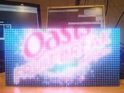 Hackspark 64x32 Usb Rgb Led Matrix Video Screen Display