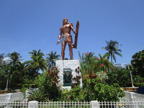 Lapu Lapu killed Magellan here ~  Historical Memorial ~ Mactan Island, Cebu ~ Philippines tourism