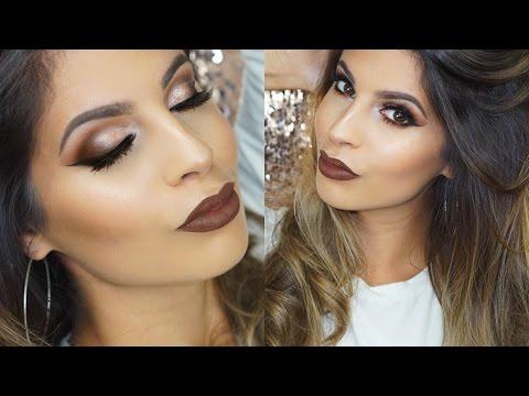 Neutral Eyes & Brown Lips Makeup Tutorial   Mannymua Palette