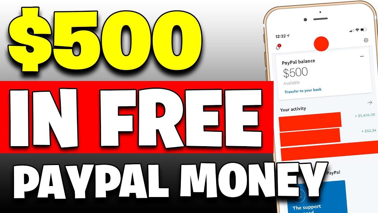 Earn $500 In FREE PAYPAL MONEY [Make Money Online]