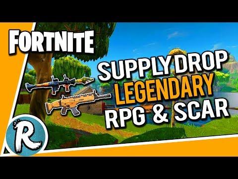 LEGENDARY RPG & SCAR FROM SUPPLY DROP! - Fortnite Battle Royale