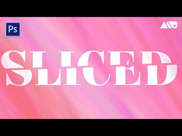 How to Create Sliced Text in Adobe Photoshop Tutorial - YouTube