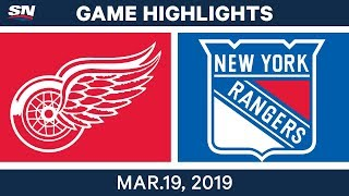 NHL Game Highlights   Red Wings vs. Rangers - March 19, 2019