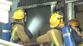 MARINE WAREHOUSE FIRE ELLERSLIE NZ.flv