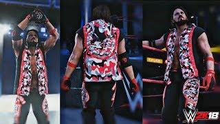 WWE 2K18: AJ Styles Bijgewerkt Red Camo Kleding w/ Afzuigkap Animatie! (PC) - RAW 10/23/2017