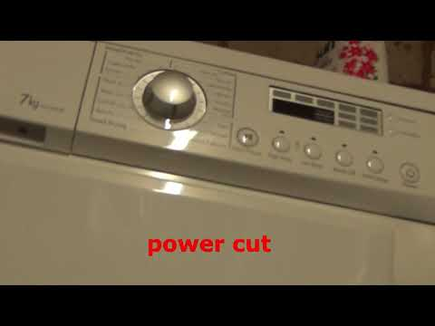 what happens if there is a power cut on LG condenser dryer.