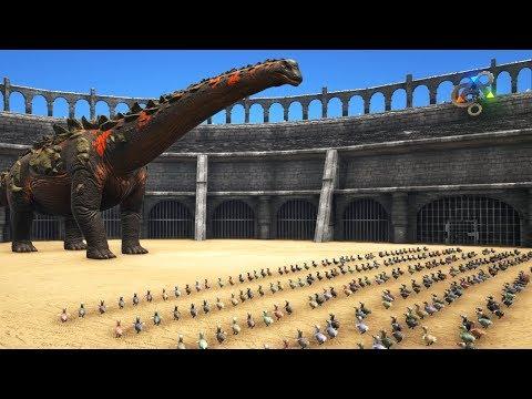 Titanosaur vs Giant Dodo Army (high level) || Cantex