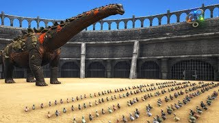 Titanosaur vs Giant Dodo Army (high level) || Cantex