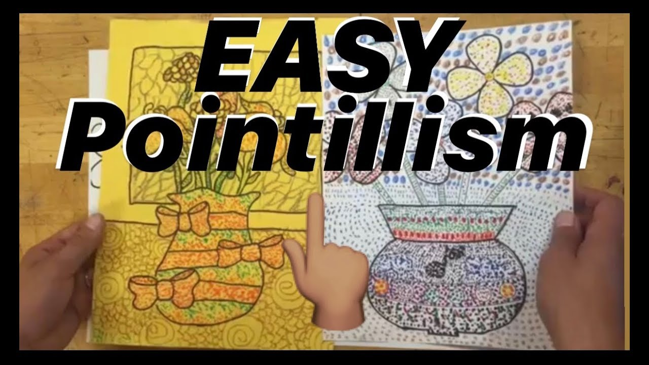 How To Do Pointillism Tutorial Fun Dot Art Project Made Easy