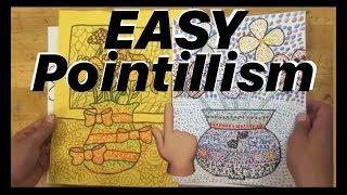 How to do !! POINTILLISM !! Tutorial - Dot Art Fun Easy Marker diy